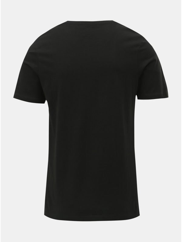 Čierne tričko s potlačou Jack & Jones Rejistood
