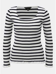 Modro–biely pruhovaný tenký sveter Dorothy Perkins