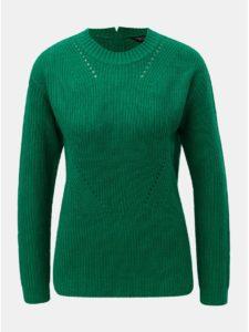 Zelený sveter so zipsom na chrbte Dorothy Perkins