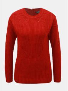 Červený sveter so zipsom na chrbte Dorothy Perkins Tall