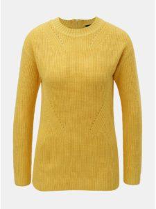 Žltý sveter so zipsom na chrbte Dorothy Perkins