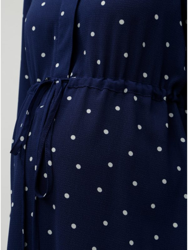Modrá tehotenská blúzka s bodkami Dorothy Perkins Maternity
