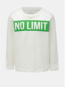 Biele chlapčenské tričko s nápisom Name it