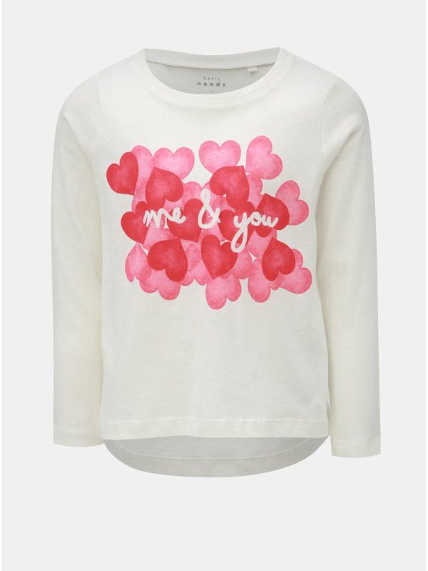 Biele dievčenské tričko s potlačou Name it