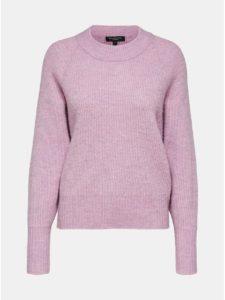 Ružový sveter s prímesou vlny Selected Femme Ena
