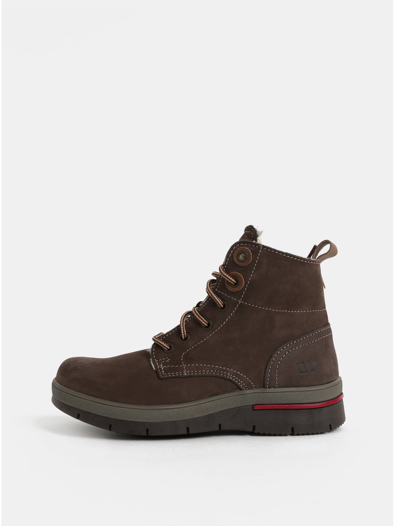 8880643d24 Tmavohnedé dámske kožené členkové zimné topánky s umelou vnútornou  kožušinkou Weinbrenner
