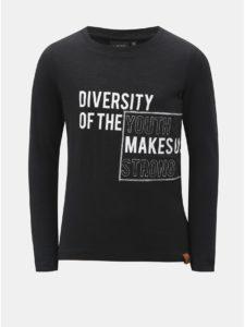 Tmavosivé chlapčenské tričko s nápisom LIMITED by name it