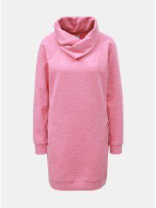 Ružové melírované mikinové šaty s golierom ONLY Laura