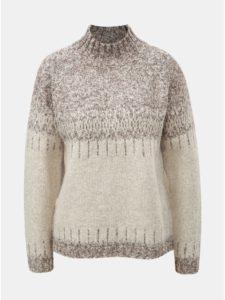 Béžovo–krémový vzorovaný sveter s rolákom ONLY Arlene
