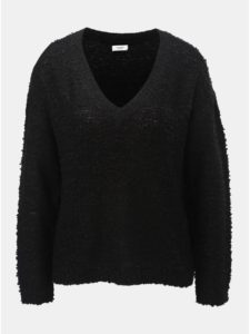 Čierny sveter s véčkovým výstrihom Jacqueline de Yong Knit