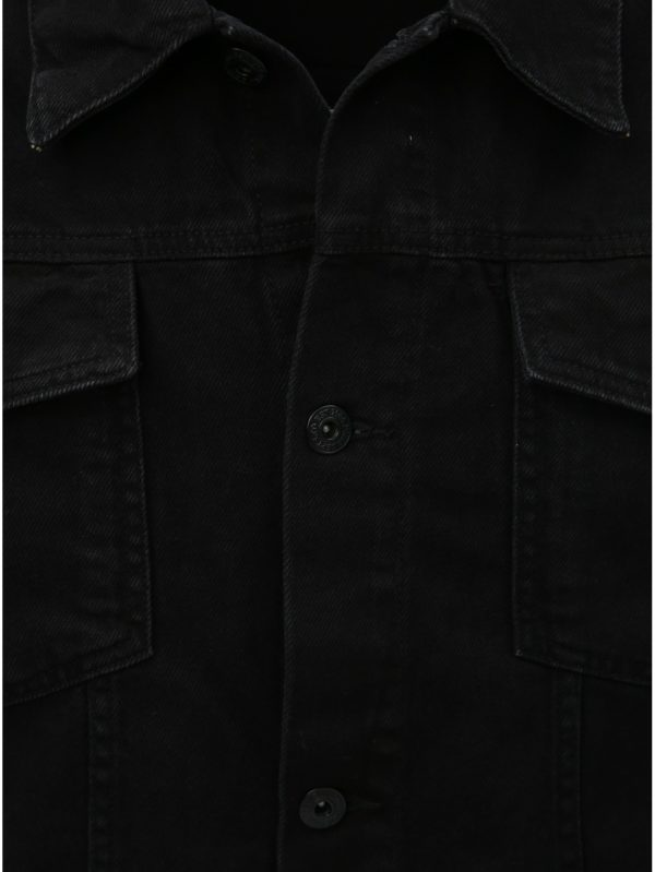 8e6cf875c3bf Čierna pánska rifľová bunda Burton Menswear London