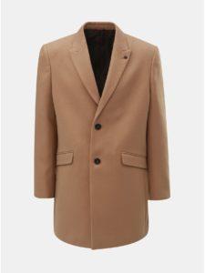 Hnedý kabát Burton Menswear London Crombie
