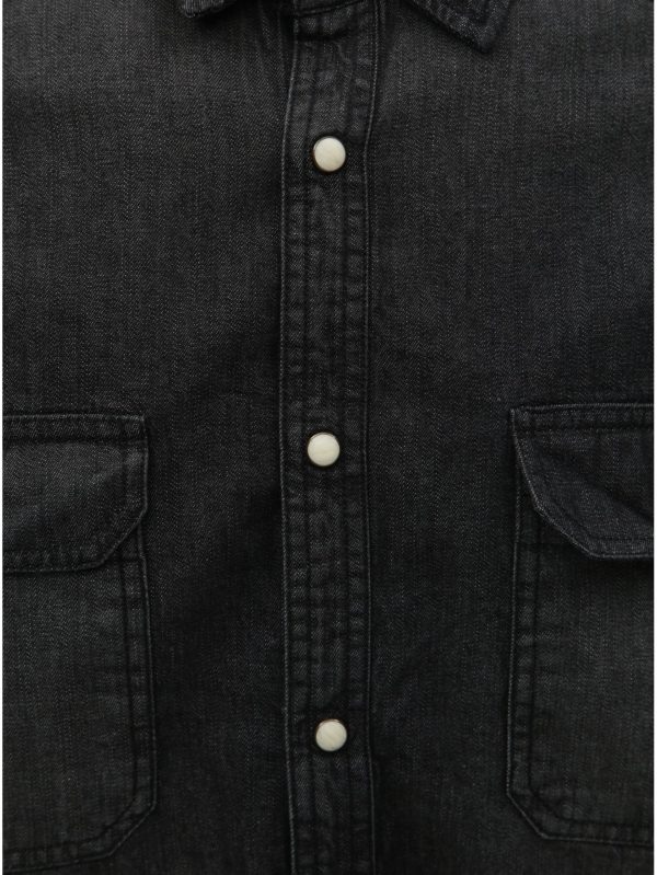 2db2eb73b45b Čierna rifľová košeľa Burton Menswear London Western