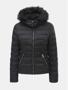 e85656815 Čierna prešívaná zimná bunda s odnímateľnou kapucňou TALLY WEiJL Woven
