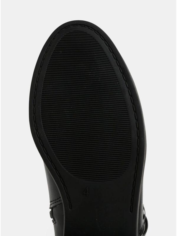 b2cc2b7bd Čierne čižmy s prackami v striebornej farbe Dorothy Perkins   Moda.sk