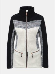 Čierno–biela dámska tenká fleecová bunda killtec Tea