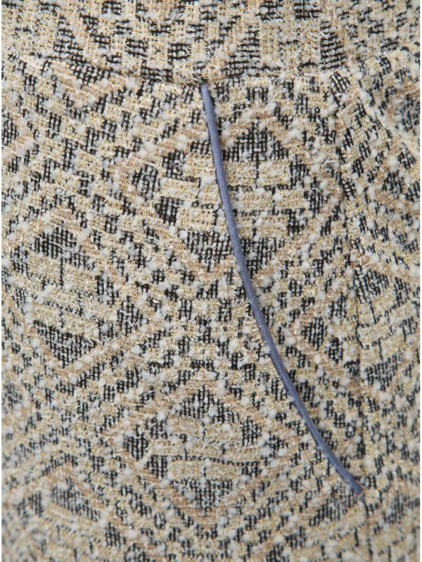 Béžová vzorovaná puzdrová sukňa SEVERANKA