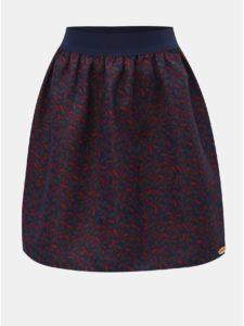 Ružovo–modrá kvetovaná sukňa SEVERANKA