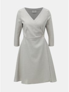 faadcf4f87c Svetlosivé melírované zavinovacie šaty SEVERANKA