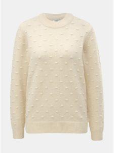 Béžový sveter s plastickým vzorom Jacqueline de Yong Dotta