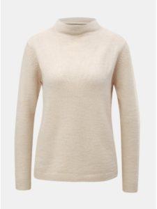Krémový sveter so stojačikom a prímesou vlny Jacqueline de Yong Roberta