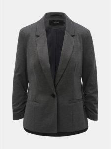 Sivé kostýmové sako s 3/4 rukávom VERO MODA Jana