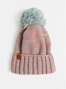 Modro–ružová melírovaná čiapka s brmbolcom NUGGET Noma
