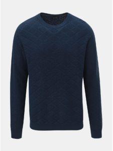 Modrý károvaný tenký sveter Jack & Jones Boston