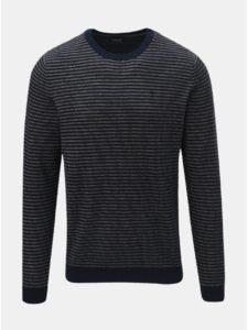 Béžovo–modrý pruhovaný tenký sveter Jack & Jones Boston