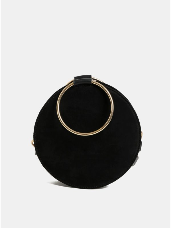 Čierna crossbody kabelka v semišovej úprave Miss Selfridge