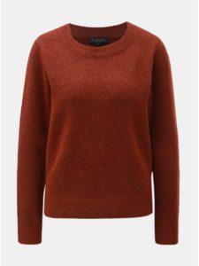 78489b3a6c1d Hnedý melírovaný sveter s prímesou vlny Selected Femme Enva