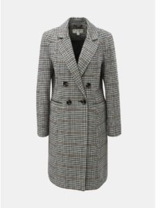 Čierno–biely kockovaný kabát Miss Selfridge