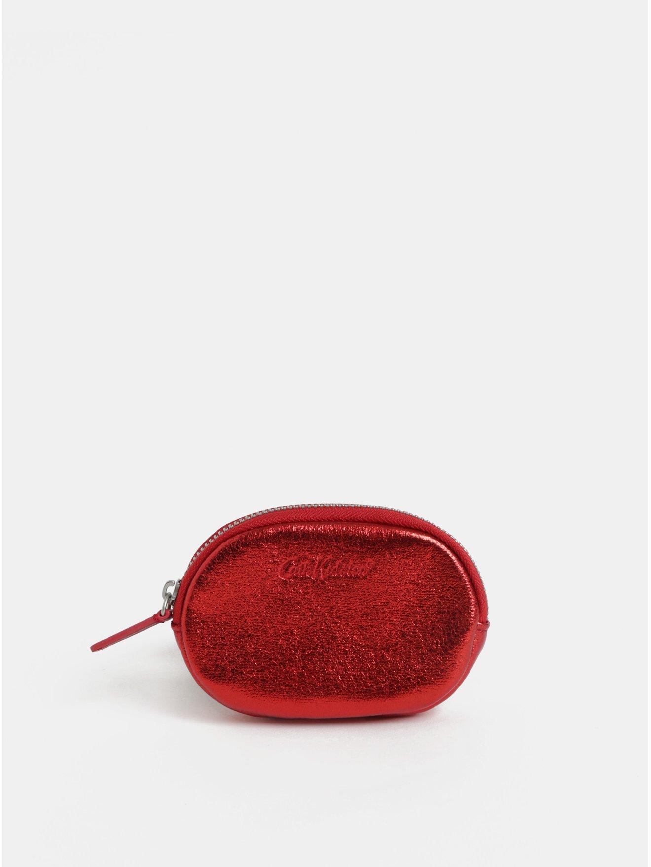 ccdb0ec209 Červená dámska trblietavá peňaženka na mince Cath Kidston
