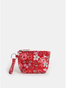 Červená dievčenská kvetovaná peňaženka na mince Cath Kidston