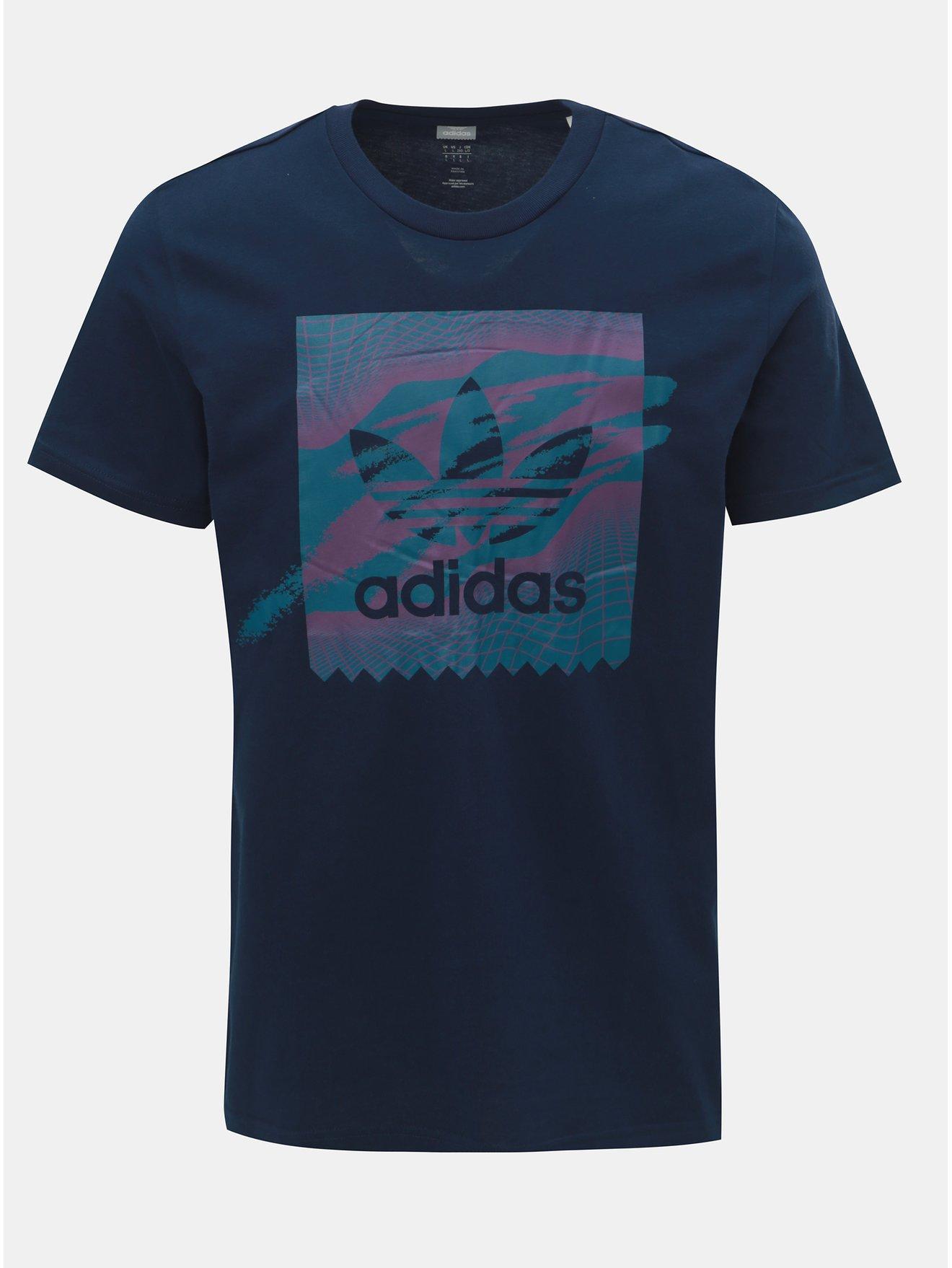 87f4065093b3 Tmavomodré pánske tričko adidas Originals Tennis BB