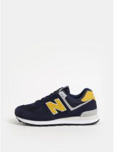 Modré pánske semišové tenisky New Balance