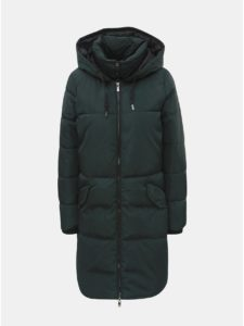 Tmavozelený zimný prešívaný kabát ONLY Elin