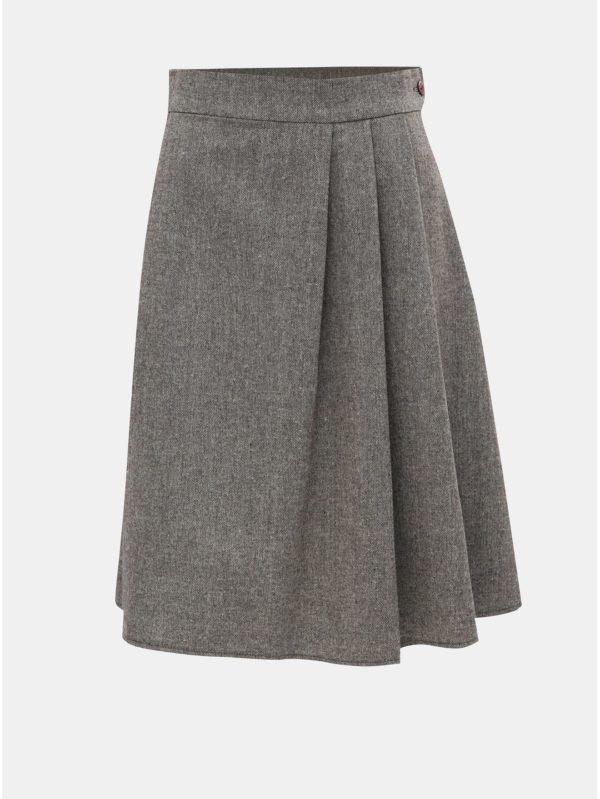 Sivo–hnedá melírovaná sukňa SEVERANKA