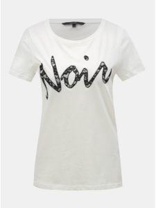 d3faf1defe Biele tričko s čipkovanou nášivkou VERO MODA Loving