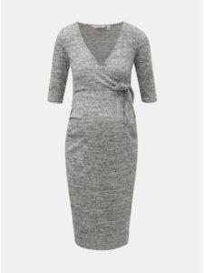 Sivé melírované tehotenské šaty Dorothy Perkins Maternity