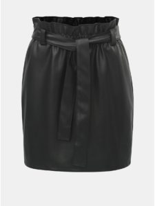 15f98e1fc34d Čierna koženková sukňa s gumou v páse ONLY Coc