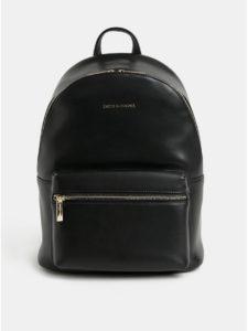 Čierny kožený batoh Smith & Canova