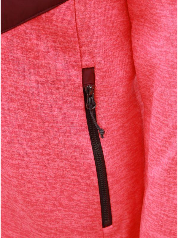 Ružovo–vínová dámska mikina s kapucňou LOAP Gaya