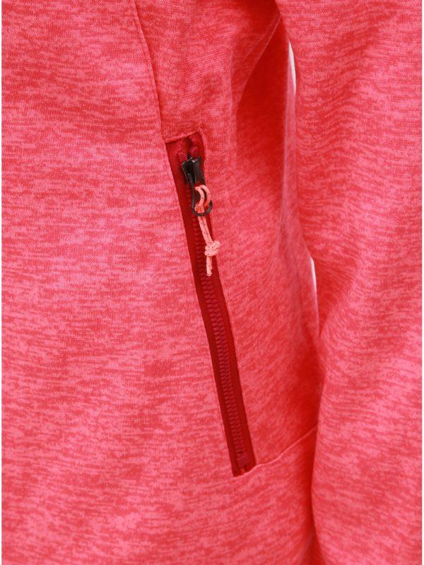 Ružová dámska melírovaná mikina LOAP Galyn