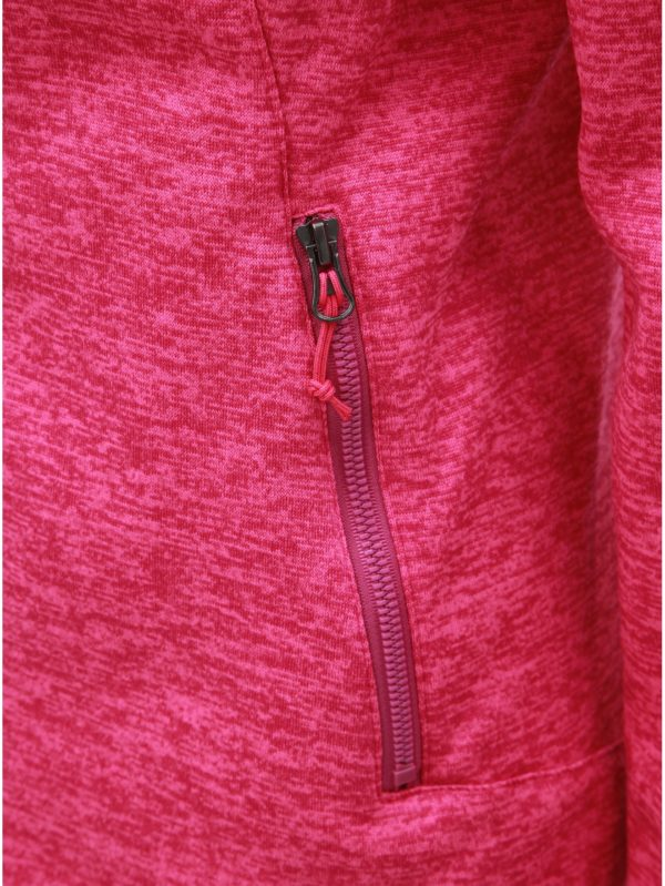 Ružová melírovaná dámska mikina LOAP Gaela