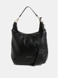 Čierna kožená kabelka s odnímateľným popruhom Smith & Canova