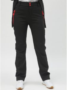 Čierne dámske softshellové nohavice LOAP Lucien