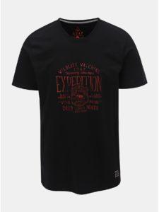 Čierne pánske tričko s potlačou LOAP Betar