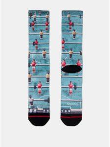 Čierno–modré pánske ponožky s motívom stolného futbalu XPOOOS
