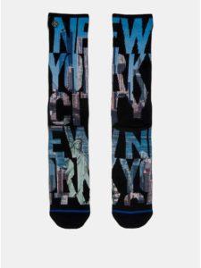 Modro–čierne pánske ponožky s motívom New Yorku XPOOOS
